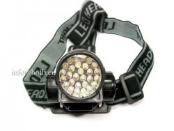 LED Kopflampe Stirnlampe Fahrradlampe 4 Stufenschaltung