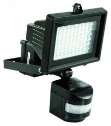 LED-Außenstrahler 60LEDs mit Bewegungsmelder kaltweiß 230V