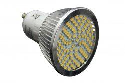 LED GU10 5W Strahler Lampe kaltweiß 90SMD 480 Lumen Schutzglas