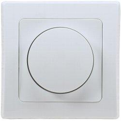 LED Dimmer Drehdimmer Schalter 20-300W 230V UP weiß inkl. Rahmen