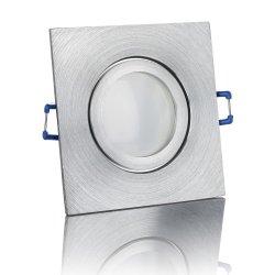 IP44 ALU Einbaustrahler Feinschliff eckig Badezimmer/Feuchtraum geeignet