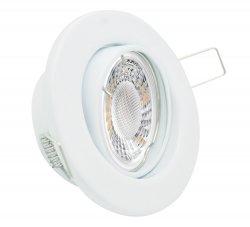 LED Einbaustrahler Set 5W weiß rund 230V dimmbar
