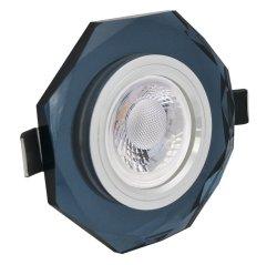 LED Einbaustrahler Set 5W Kristall schwarz achteckig 230V dimmbar
