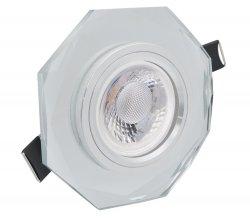 LED Einbaustrahler Set 5W Kristall klar achteckig 230V dimmbar
