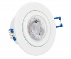 IP44 LED Einbaustrahler Set 5W weiß rund 230V dimmbar