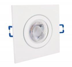 IP44 LED Einbaustrahler Set 5W weiß eckig 230V dimmbar