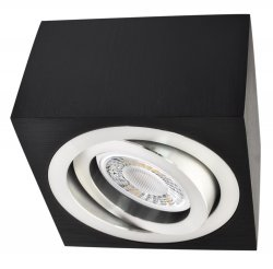 LED Decken Aufbaustrahler Set 5W schwarz eckig 230V dimmbar