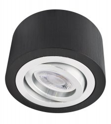 LED Decken Aufbaustrahler Set 5W schwarz rund 230V dimmbar