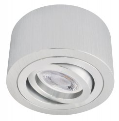 LED Decken Aufbaustrahler Set 5W Alu gebürstet rund 230V dimmbar