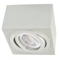 LED Decken Aufbaustrahler Set 5W Alu-gebürstet eckig 230V dimmbar