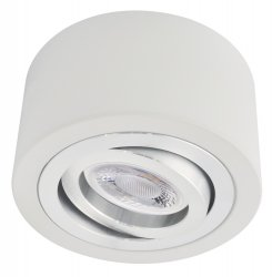 LED Decken Aufbaustrahler Set 5W Alu weiß rund 230V dimmbar