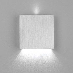LED Wand- Treppenleuchte Aluminium Stufenbeleuchtung 230V dezent indirekt 1,5W kaltweiß