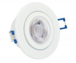 IP44 LED Einbaustrahler Set 5W GU10 weiß rund 230V
