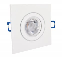IP44 LED GU10 5W Einbaustrahler Set weiß eckig 230V