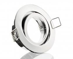 E44574 Einbaustrahler Chrom schwenkbar Klickverschluss 12V/230V