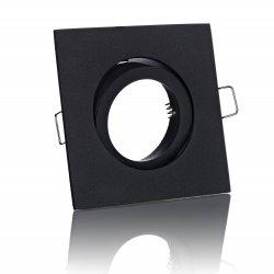 E44597 Einbaustrahler schwarz eckig schwenkbar Klickverschluss 12V/230V