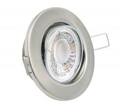 LED Einbaustrahler Set 5W Chrom Matt rund 230V dimmbar