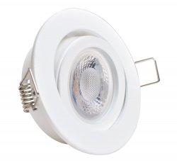 GU10 LED Einbaustrahler Set 5W weiß rund 230V Klickverschluss