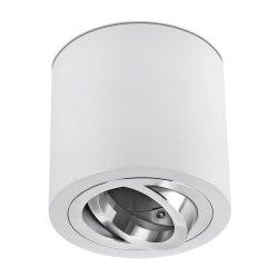 LED Decken Aufbaustrahler Set 5W GU10 Aluminium weiß rund 230V