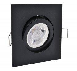 LED GU10 Einbaustrahler Set Einbauleuchte 5W schwarz eckig 230V