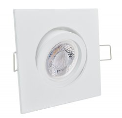 GU10 LED Einbaustrahler Set Einbauleuchte 5W weiß eckig 230V