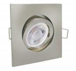 GU10 LED 5W Einbaustrahler Set Einbauleuchte chrom matt eckig 230V