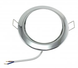6W LED Einbauleuchte set chrom glänzend rund GX53 230V flach