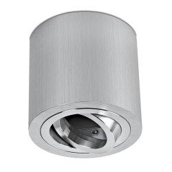 LED Decken Aufbaustrahler Set 5W GU10 Aluminium gebürstet rund 230V