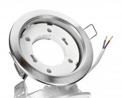 GX53 Einbaustrahler Silber gebürstet rund Einbauleuchte 230V