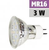 LED 3W MR16/GU5.3 SMD Lampe Strahler 12V Warmweiß