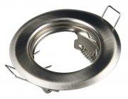 E44085 Metall Einbaustrahler Eisengebürstet rund 12V / 230V