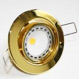 LED GU10 Einbaustrahler Set Gold Messing 4W COB 230V