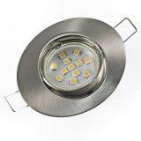 LED Einbaustrahler Set Oval 0,8W GU10 warmweiß dezent 230V