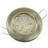 LED Einbaustrahler Set bicolor rund 0,8W GU10 warmweiß 230V dezent