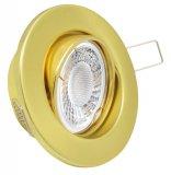 LED Einbaustrahler Set 5W Messing Gold rund 230V dimmbar