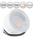 LED Einbaustrahler Set 5W Chrom glänzend rund 230V dimmbar