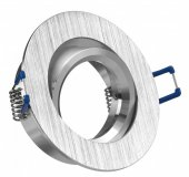 LED Einbaustrahler Set 5W Alu gebürstet rund 230V dimmbar