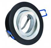 LED Einbaustrahler Set 5W Alu schwarz bicolor rund 230V dimmbar