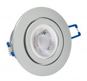 IP44 LED Einbaustrahler Set 5W chrom rund 230V dimmbar