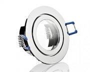 IP44 LED Einbaustrahler flach 5W chrom rund 230V dimmbar