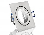 IP44 LED Einbaustrahler flach 5W gebürstet eckig 230V dimmbar