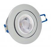 IP44 LED Einbaustrahler Set 5W GU10 chrom rund 230V