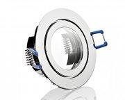 IP44 GU10 LED Einbaustrahler Set 5W Chrom rund 230V
