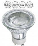 LED GU10 Lampe Strahler 5W Warmweiß mit Schutzglas 230V
