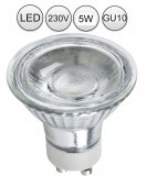 LED GU10 Lampe Strahler 5W kaltweiß mit Schutzglas 230V