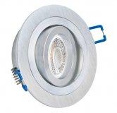 GU10 LED Einbaustrahler Set 5W Aluminium bicolor rund 230V