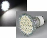 LED Strahler 2W GU10 54SMD kaltweiß mit Schutzglas