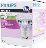 Philips LED GU10 Strahler 4.5W Warmweiß Schutzglas 230V Dimtone