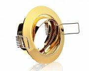 Einbaustrahler Gold Messing rund schwenkbar 12V/230V